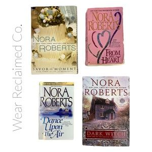 Bundle of 4 NORA ROBERTS Romance Novels